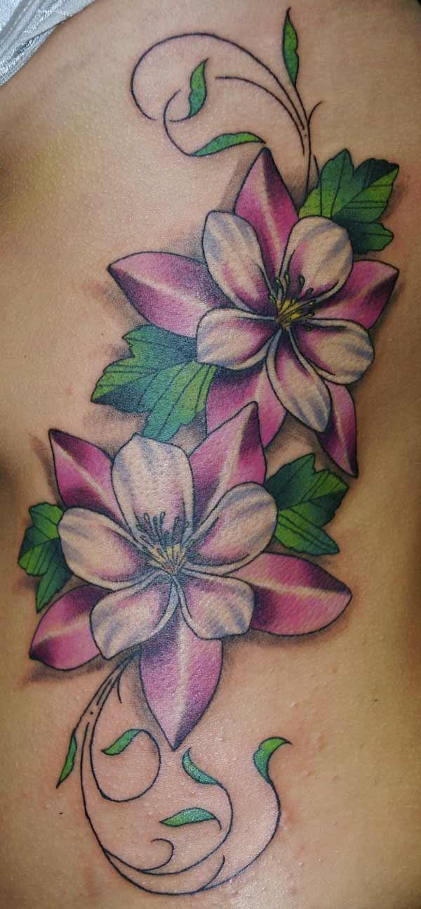 Free Tattoos: Pink flowers tattoo