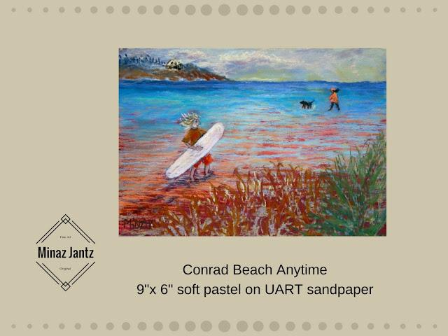 Conrad Beach Anytime by Minaz Jantz pastel