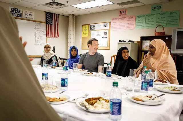 Mark Zuckerberg has his first Iftar dinner with a group of Somali refugees in Minneapolis