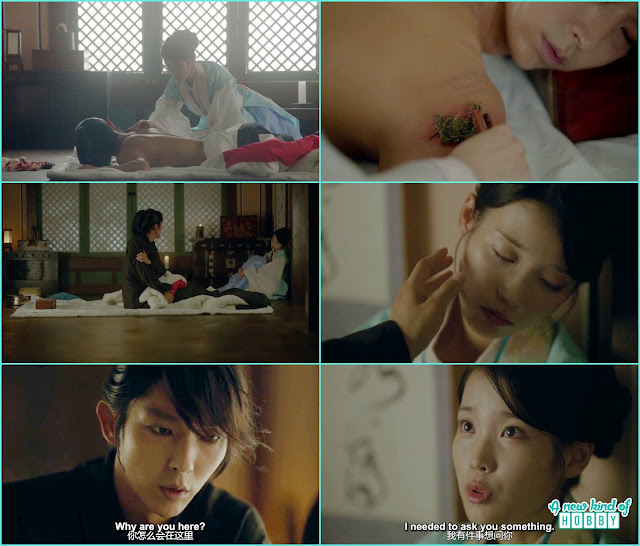 hae so nursed wang so all night and when he wake up she ask i have to ask something from him  - Moon Lovers Scarlet Heart Ryeo - Episode 16 (Eng Sub)