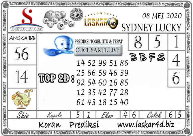Prediksi Sydney Lucky Today LASKAR4D 08 MEI 2020