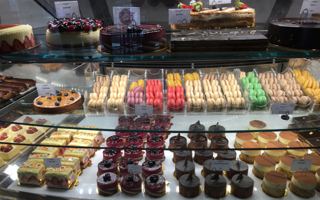 Display of pastries
