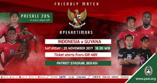 Jadwal Timnas Indonesia vs Guyana