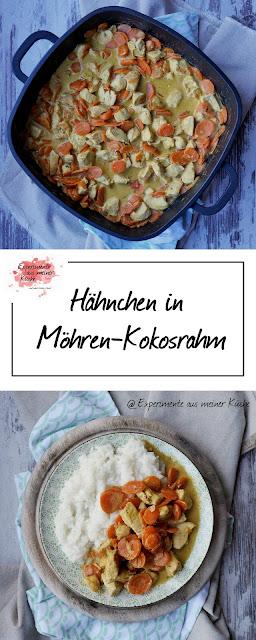 Hähnchen in Möhren-Kokosrahm | Rezept | Essen | Kochen