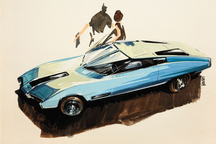 car design sketches from 50�s amp late 60�s � the american