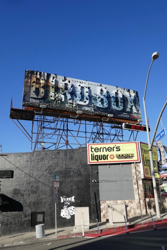Bird Box movie special billboard installation