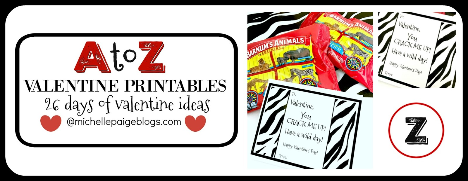 michelle paige blogs zoo animal printable valentines