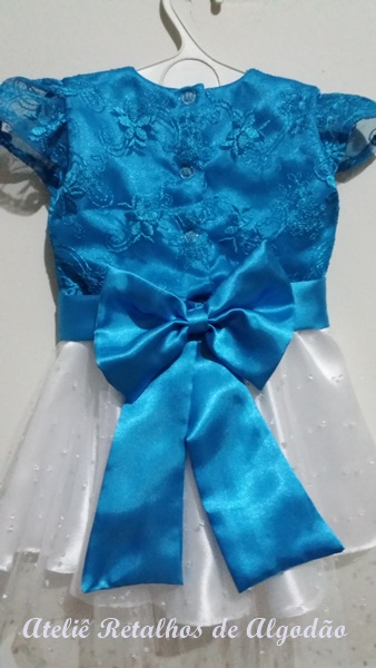 Vestido infantil Elsa Frozen