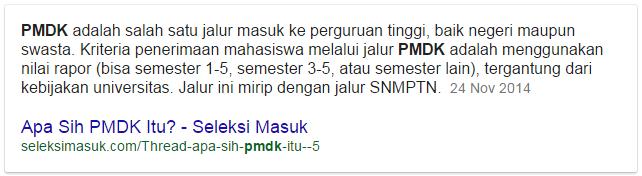 pengertian PMDK, apa itu PMDK ?