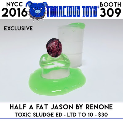 New York Comic Con 2016 Exclusive Toxic Sludge Edition Half A Fat Jason Resin Figures by RenOne x Tenacious Toys