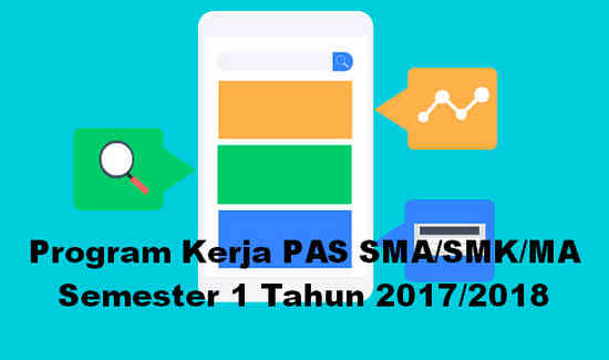 Program Kerja PAS SMA/SMK/MA Semester 1 Tahun 2017/2018