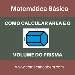 Como calcular a área e o volume do prisma