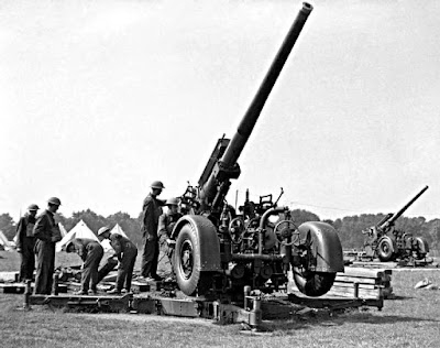 Vickers Armstrong QF3.7 inch gun as used by The 59th Regiment