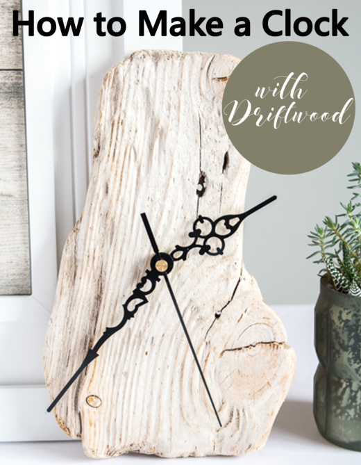 Driftwood Clock DIY Tutorial with Clock Kit