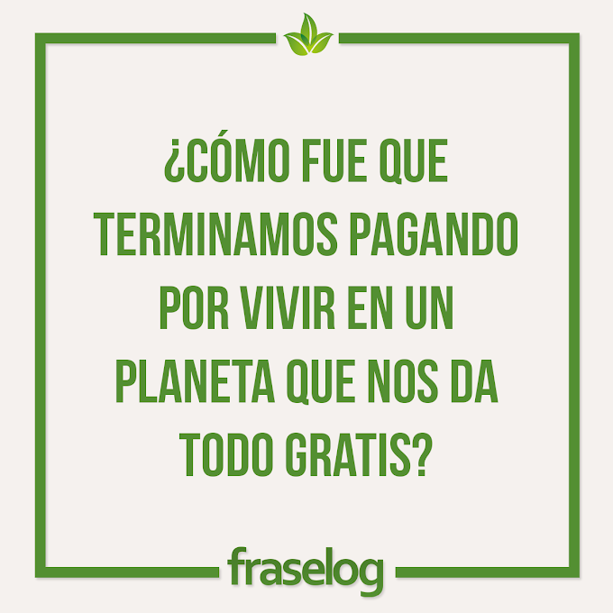 ¿Cómo fue que terminamos pagando por vivir en un planeta que nos da todo gratis?