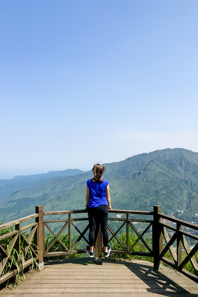 hiking Keelung Mountain in Jiufen, Taiwan
