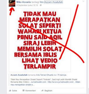Kiai Said Mau Shalat Dengan Iblis? itu Fitnah Media Wahabi