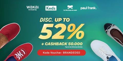 Bukalapak - Promo Voucher Fashion Branded s.d 52% + Cashback 50 Ribu