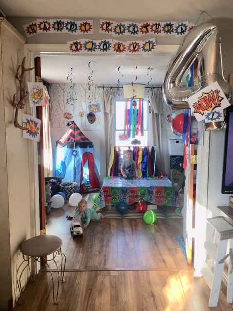 4 year old superhero party