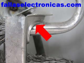 fuga de gas en rozamiento de aluminio