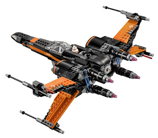 black x-wing lego fighter