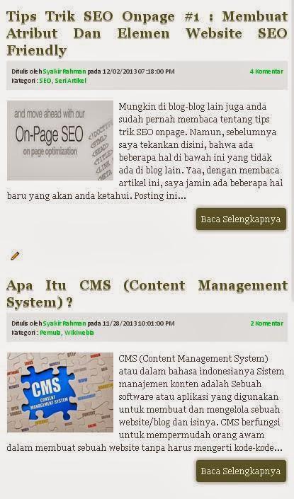 Konten sebuah situs