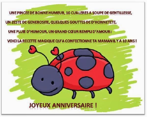 Texte Et Carte Anniversaire Par Age Texte Message Et Poeme D Anniversaire