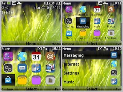 Vista grass theme Asha 302 C3-00 X2-01 Asha 200 Asha 201