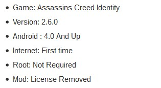 Assassins Creed Identity Game Details