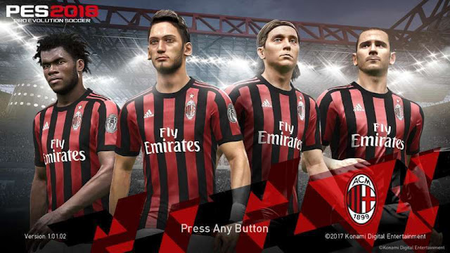 AC Milan Start Screen PES 2018