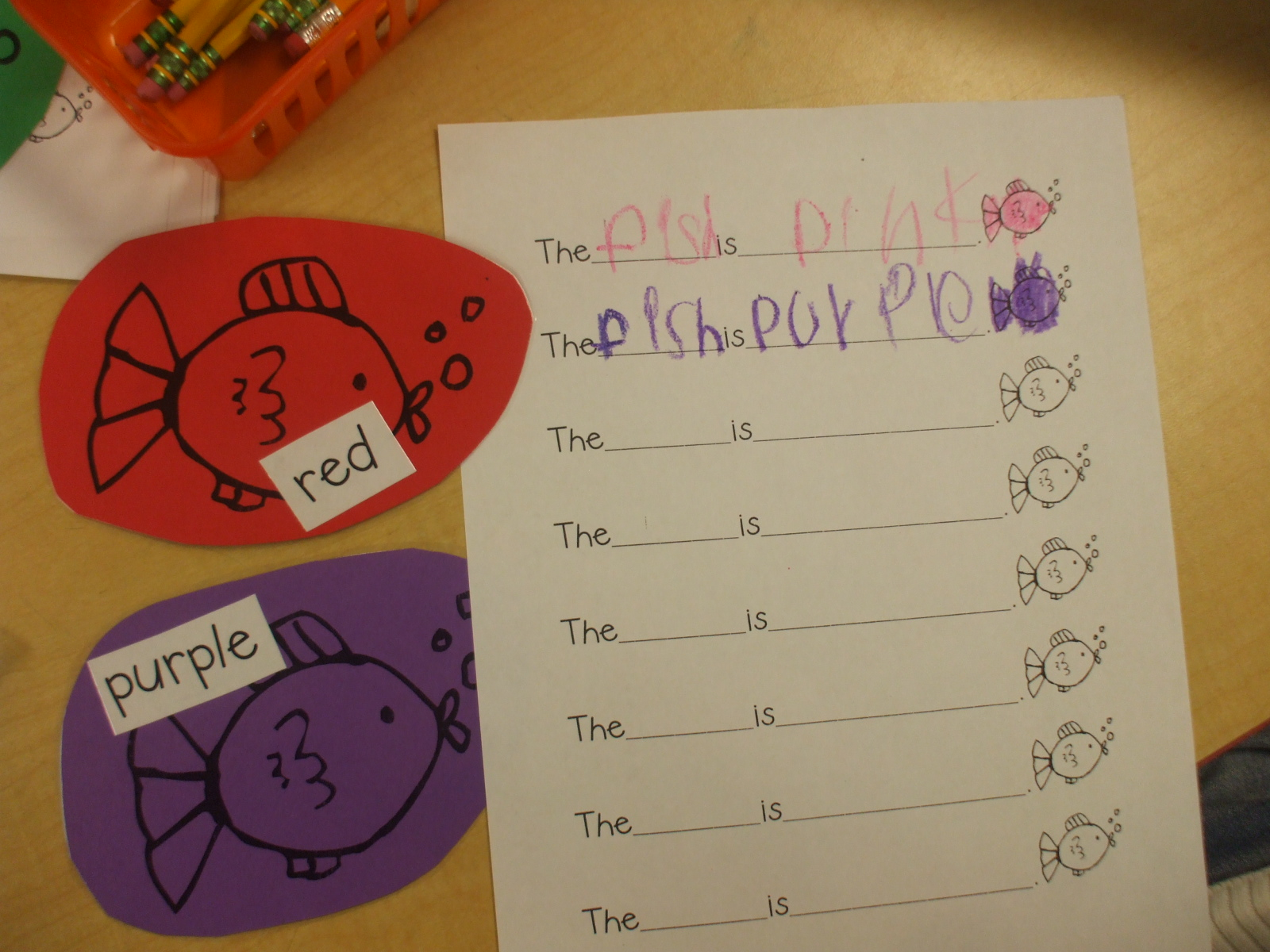 Dr Seuss One Fish Two Fish Red Fish Blue Fish Worksheets
