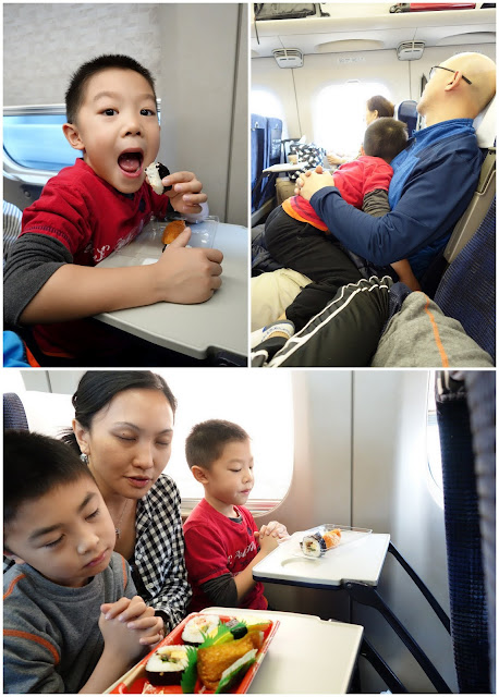 Travelling to Japan with kids in bullet train