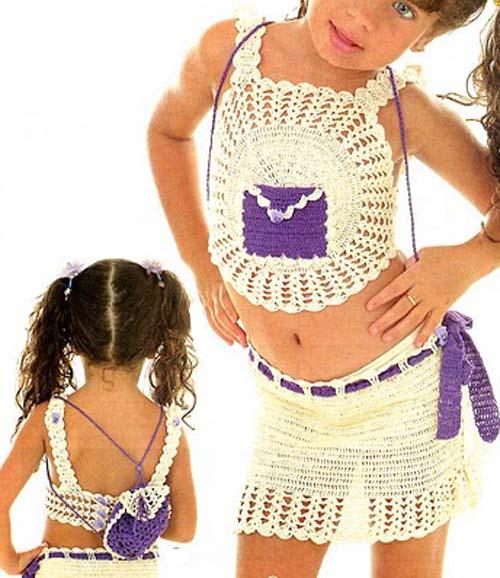 Patron Crochet Conjunto Infantil