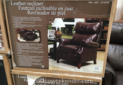 Costco 1074709 - Synergy Home Leather Pushback Recliner features 3 reclining positions depending on your mood