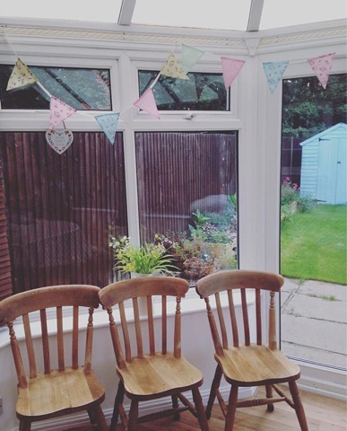 DIY Upcycled table and chairs before and after