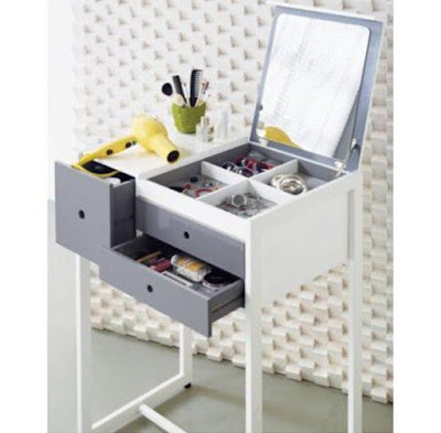 small dressing table design ideas with folding mirror for small bedroom