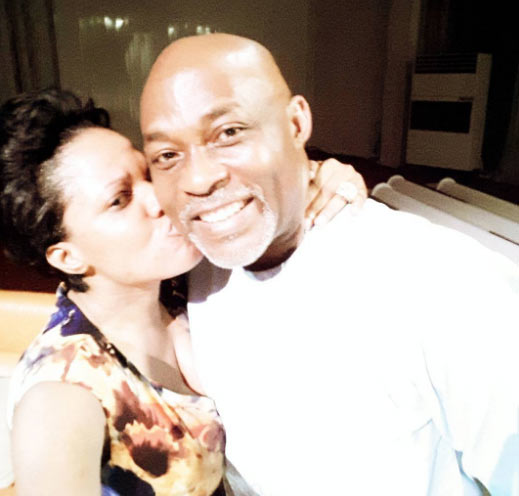 "Toyin Aimakhu calls RMD ""daddy"" with a kiss on the cheeks"