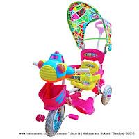 Sepeda Roda Tiga Royal UFO Dobel Musik Kanopi