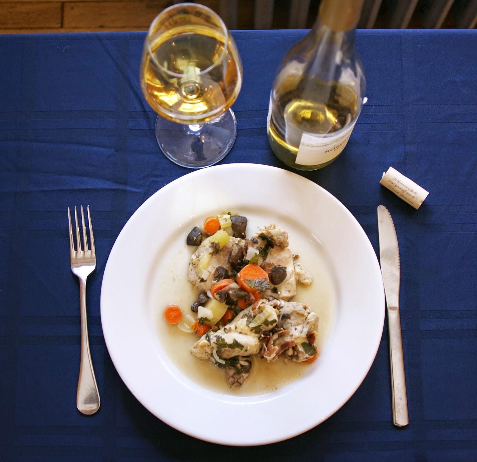 7aff07251029 Slow Cooker Chicken Coq au Vin Blanc  simplelivingeating.com