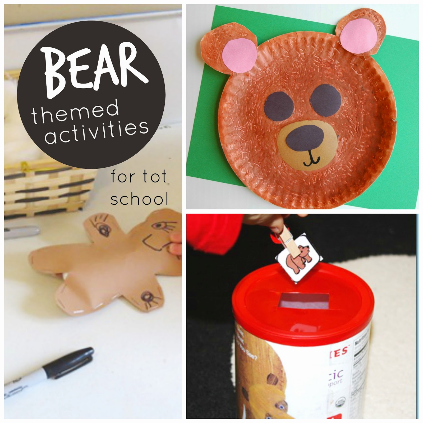 Toddler Approved Bear Themed Tot School Activities For