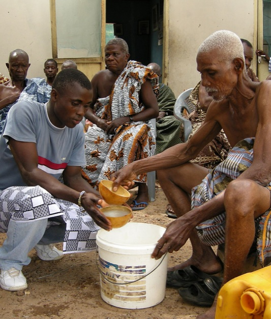 A palm wine tapper