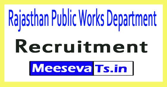 Rajasthan Public Works Department Rajasthan PWD Recruitment