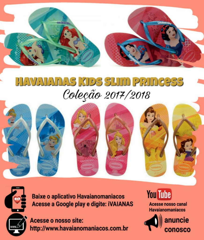 788ab88f4 Chinelo Havaianas Kids Slim Princess 2018