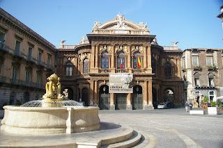 The Teatro Massimo Bellini in Catania