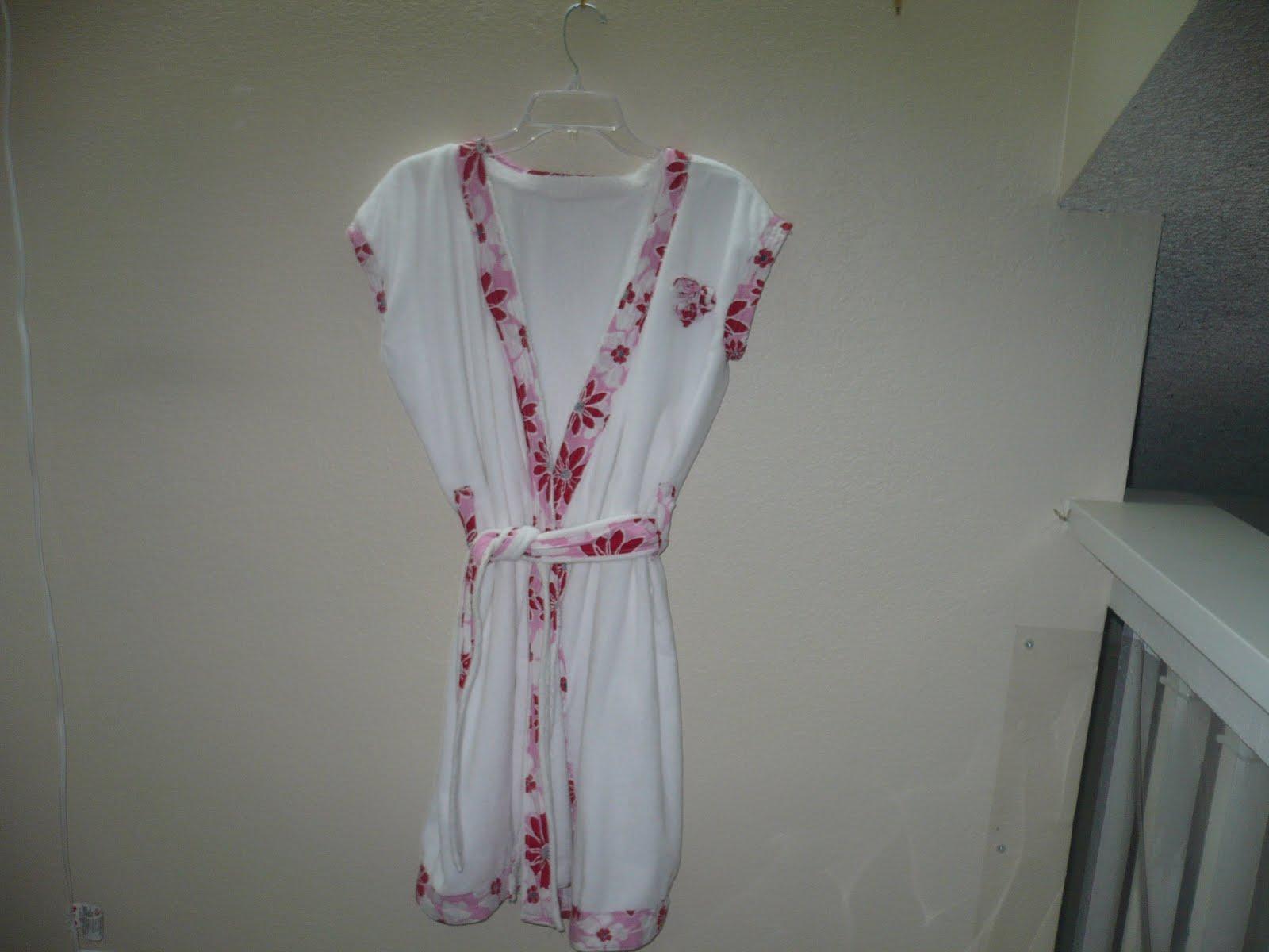 sew a bathing robe