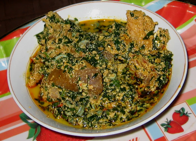 how to prepare egusi soup and pounded yam Bitterleaf egusi soup and pounded yam  pulse food how to prepare oxtail  pepper soup  boil for 3 minutes and serve with pounded yam.
