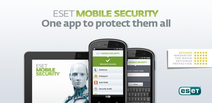 ESET Mobile Security & Antivirus for Android combines the award-winning ESET NOD32 Antivirus engine with powerful antitheft and Antispam Protection to provide real-time protection against unknown and emerging mobile threats.