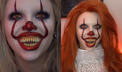Pennywise 2017 Makeup Girl/ Ladies