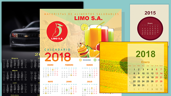 calendarios con Inkscape