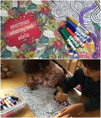 Large format colouring books for adults